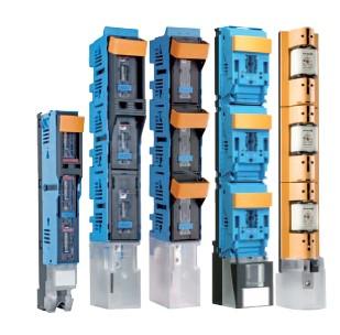 Предохранительные рейки включения нагрузки NH, вертикальная компоновка